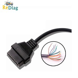 10pcs / lot Abertura OBD2 16 Pin Feminino Extensão Cable Car Interface de diagnóstico Connector Feminino Converter OBD2 cabo macho