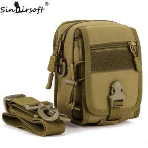 SINAIRSOFT Shoulder Waist Waterproof Bag Outdoor Riding Crossbody Small Messenger Men Hiking Travel Nylon Bags