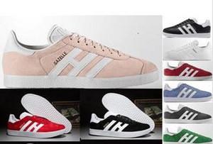 2018 ingrosso pelle scamosciata chaussures gazelle uomo donna bassa casual gazzella scarpe Chukka nero rosso rosa grigio leggero scarpe traspiranti