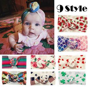 9 Arten Focusnorm Baby Mädchen Haarschmuck Süßes Baby Mädchen Kinder Kleinkind Bogen Knoten Haarband Stirnband Stretch Turban Kopf wickeln