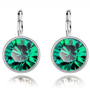 1 Paar Classic 100% Original-Kristalle aus Swarovski Bella Mini-Ohrringe arbeiten Ohrstecker Trending Party Weihnachten Bijoux Geschenke Frauen