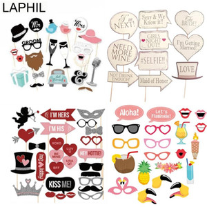 Doccia LAPHIL Sig.ra Just Married Photo Booth Props Wedding Decoration nuziale Bachelorette Party Supplies Photobooth nozze