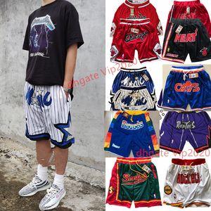 Pas cher Hommes Juste Sport Don Sportwear Shorts Basketball Respirant Femmes Gym Pantalon formation avec fermeture éclair Taille S-poches Cousu-XXL