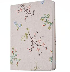 Caderno de pano criativo floral notas de estudante da escola livros flores bonitos capa listra notepads coreano projeto de negócios notapdas Travel Journal