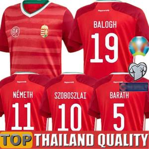 2020 Европейской Венгрия футбол Джерси 19 20 Главной Red Dominik Szoboszlai Willi Орбан Тамаш Кадар футбол рубашка сборных равномерные