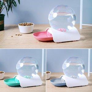 Bottiglia automatico del gatto alimentatore Pet Dog Water Dispenser Mangiare Viaggio Dish Bowl 2.8L