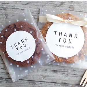 100pcs Clear Transparent Plastic Bag For Cookie Sweets Candy Bags Self Adhensive Packaging Bag Birthday Party Gift Pouch