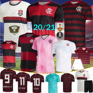 20 21 CR Flamenko Futbol Formalar 2020 Flaman GUERRERO DIEGO VINICIUS Flamengo Gabriel B Erkekler Futbol Gömlek Custom Made Çocuk Kadınlar