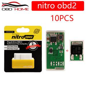 10PCS A +++ Qualité Nitro OBD2 Chip Tuning Boîte enfichable à NitroOBD2 pour Diesel Essence voiture Plus de puissance Nitro OBD Box
