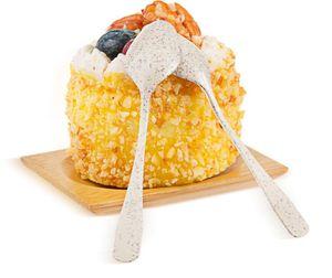 Dessert Plastic tumbler insalata chiara cucchiaio tazze crema cucchiaio ghiaccio torta per il tiramisù torte semifreddo tuffo gelati e biscotti