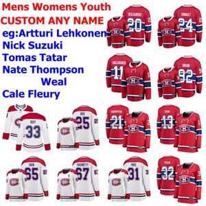 Montreal Canadiens jerseys para mujer niños Artturi Lehkonen Jersey Nick Suzuki Tomas tártaro Nate Thompson Weal rojo del hockey jerseys cosido personalizada