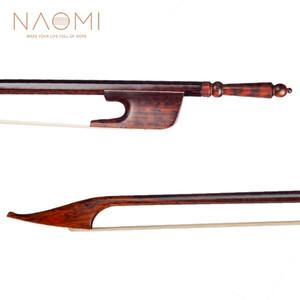 NAOMI 4/4 Barroco Bow Para 4/4 Violin Snakewood Violin Bow Snakewood Sapo End New Violin Bow Parts Acessórios