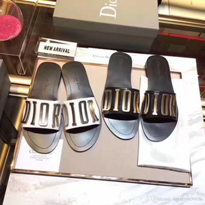 2019 Hausschuhe Designer Sandalen Hochwertige Slides Designer Schuhe Designer Huaraches Flip Flops Müßiggänger Für Frau mit Box von shoe01
