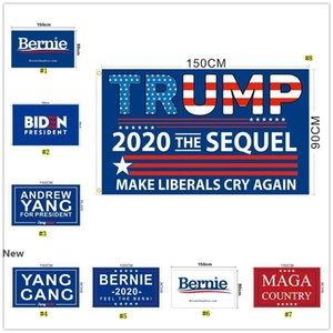 Trump 2020 Flags American President election flag Joe Biden Bernie Sanders Andrew Yang 2020 flags Polyester Decor Banner MMA2998