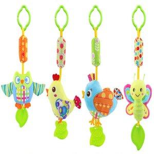 All'ingrosso-Baby Toys Sonagli Toy Kids Soft Bird Chick Gufo Peluche Clip di animali Culla Letto appeso Campane Giocattoli per passeggino
