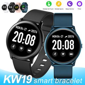 KW19 intelligente Guarda Blood Pressure impermeabile cardiofrequenzimetro Fitness Tracker Sport intelligente Braccialetti per Andriod con la scatola di vendita al dettaglio