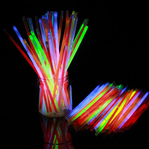 100PC Mix Color Glow Stick Safe Light Stick Necklace Bracelets Fluorescent for Event Festive Party Supplies Concert Decor