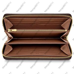 ZIPPY PORTAFOGLIO VERTICALE Moda portare in giro carte denaro e monete Uomini pelle della borsa del supporto Design Cards Long Business 4 colori