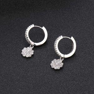 Trndy Cubic Zirconia crystal Leaf drop Earrings fashion charm small Plant Earrings For Women Girls Jewelry 2020
