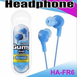 غومي HA FR6 غائر سماعة أذن صغيرة 3.5mm في سماعة HA-FR6 غومي زائد مع MIC لالروبوت الهاتف الذكي مع حزمة البيع بالتجزئة MQ100