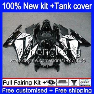 + Tanque Para KAWASAKI EX250 ZX250R 2008 2009 2010 2011 2012 201MY.54 EX250 ZX 250R EX 250 ZX250R EX250R 08 09 10 11 12 Branco Preto Fairing