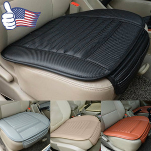 Coprisedili anteriori in pelle PU bambù singolo secchio protettore sedile cuscino tappetino fodera per cuscino per auto proprietario