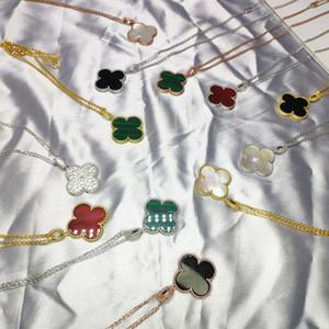 Collier Trèfle Femmes Nacre Colliers main long pull chaîne de bijoux cadeau de mariage