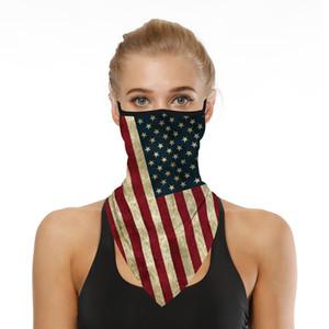 Máscaras bandeira americana Magia lenço de cabeça Banda Outdoor Neck Máscara Facial Pesca Esportiva Ciclismo Caça Pedestrianismo Bandana Máscaras Tubo Cachecol