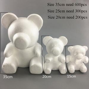 15/20 / 35 cm Modellazione Polistirene Styrofoam Bianco Bear Schiuma Balls Artigianato per DA TE Regali di Natale Decorazioni per feste Decorazione