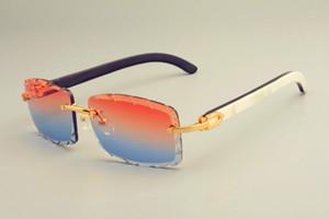 2019 البيع المباشر الجديدة الشحن مجانا النظارات الشمسية الساخنة 8300915 قرون الطبيعية مختلطة جدا النظارات، والماس الفاخرة مظلات للجنسين، والعرف الخاص