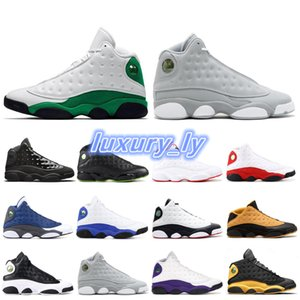 Fashion lucky green AIR 13 13s Basketball Shoes for Men wolf grey defining moments cp3 home Mens COURT PURPLE Sneakers Trainers Sports