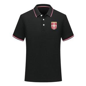2020 serbien Männer neue beiläufige Fußball POLOS Shirt Kurzarm Revers Polofußballpolohemd Männer Nationalmannschaft Training Trikot Polos Hemd