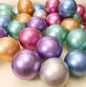 Металлические жемчужные латексные шары 10inch 50шт 1 серия Wedding Birthday Party Bouquet декора Металлические шары KKA7906