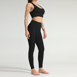 Designer Yoga Sportwear Tracksuits Fitness Bra Leggings two Piece Set Gymshark Clothes Sports Bra long pant Gym Clothing Athletic outdoor