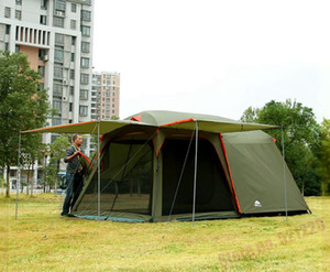자동차 1 베드룸 1 거실 5 6 7 8 사람 UV 방수 하이킹 운전 여행 비치 파티 가족 야외 캠핑 텐트