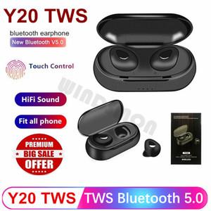 Y20 TWS Kablosuz Bluetooth Kulaklık TWS Taşınabilir Şarj Kutusu Evrensel Telefon Kulaklık Kulaklık Running 5.0 Mini Kulak Kulaklık Sport