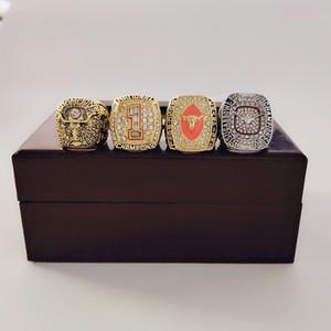 4PCS / set 1969 2005 2018 Texas Longhorns Football National College-Meisterschaft Ring Set Fan Männer Förderung-Geschenk Großhandel 2019 Drop Shipping