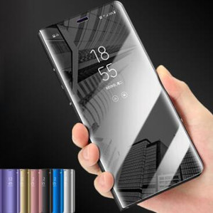 New Luxury Touch Smart Flip Stand Clear View Phone Case For Samsung Galaxy S10 S9 S8 Plus S10e Mirror Case For S7 Edge Cover for iphone