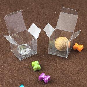 3 * 3 * 3cm boîte en PVC transparent Emballage plastique boîte-cadeau Boîtes, bonbons Boîte de mariage, affichage de bijoux transparent Petites boîtes d'emballage