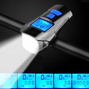 Al por mayor-4 Modo USB lámpara de luz de bicicletas bici de la computadora 6 ciclo de la bici del modo de Hornos Velocímetro Led Luces delanteras Ciclismo Faro
