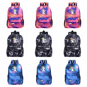 Karikatür Unicorn Sırt Çantası Galaxy Baskı Omuzlar Çocuk Çocuk Okul Çantası Seyahat Kamp Sırt Çantası Yüksek Kapasiteli 32 Stiller HHA485