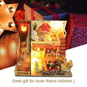 Cutebee Doll House móveis em miniatura Dollhouse DIY casa diminuta sala de caixa Teatro Brinquedos para Crianças DIY Dollhouse TD12