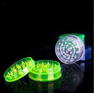 Aksesuarlar LXL95-1 sigara kıvrılan cam künt için duman dedektörleri boru akrilik taşlama için plastik Bitkisel Öğütücü 60mm Sigara Öğütücüler