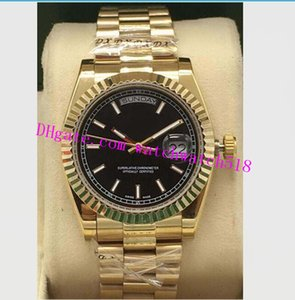 Hot Sales Luxury Watch 8 Style Mens 118238 18k Yellow Gold Black Diamond Dial Steel Fluted 36mm Watch Fashion Men's Watches Wristwatch