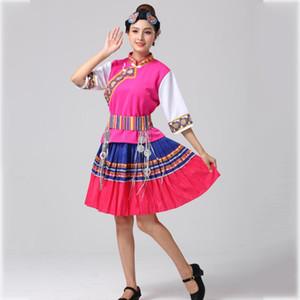 Femmes Hmong Miao Vêtements Traditionnels Chinois danse folklorique vêtements brodé ethnique costume Asie festival stage porter