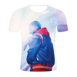 여름 디자이너 핫 티즈 반소매 탑스 R.I.P Mens nipsey hussle Tshirts3D 랩퍼 아메리칸 오넥