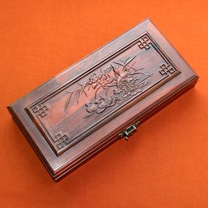 Free Shipping wooden jewelry box wooden case African Siam rosewood box jade casket necklace ring pendant wood Display Traditional Chinese