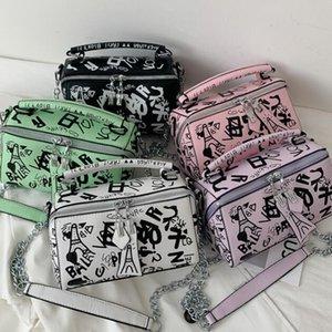 2020 New Handbags Purses Women Summer Bag Fashion Graffiti Chain Shoulder Bags Ladies Paris Graffiti Totes