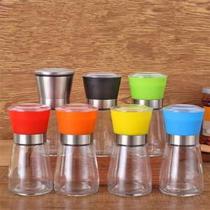 Main mouvement noir moulin à poivre cuisine fournitures verre grinder Shaker sel Container Condiment pot t9i00157