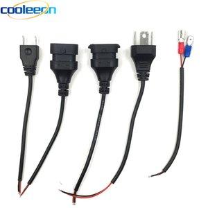 10PCS 자동차 헤드 라이트 플러그 와이어 H1 H3 H4 H7 H8 H11 9004 9005 9006 9012 소켓 어댑터 12V 24V 트럭 자동차 헤드 램프 조명 커넥터